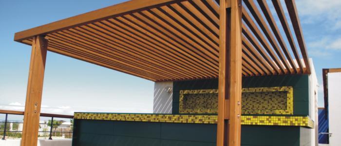 Pergolas madera decoracion terrazas madera teca pino decks - Vigas de madera para pergolas ...