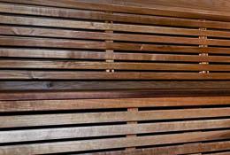 listones de madera termotratada