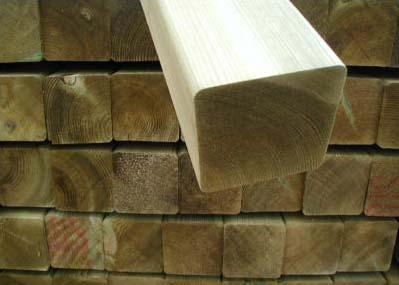 Madera tratada autoclave materiales de construcci n para - Postes de madera tratada ...
